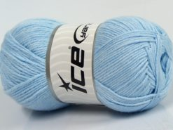 Lot of 4 x 100gr Skeins Ice Yarns BAMBOO BABY (60% Bamboo) Yarn Baby Blue