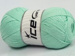 Lot of 4 x 100gr Skeins Ice Yarns BAMBOO BABY (60% Bamboo) Yarn Mint Green