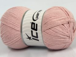 Lot of 4 x 100gr Skeins Ice Yarns BAMBOO BABY (60% Bamboo) Yarn Baby Pink