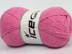 Lot of 4 x 100gr Skeins Ice Yarns BAMBOO BABY (60% Bamboo) Yarn Pink
