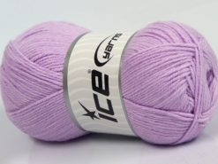 Lot of 4 x 100gr Skeins Ice Yarns BAMBOO BABY (60% Bamboo) Yarn Light Lilac