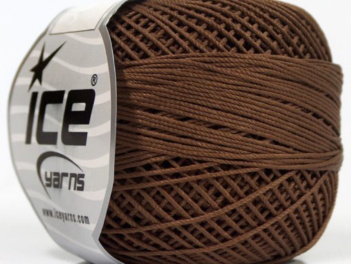 Lot of 6 Skeins Ice Yarns CRAFTY Hand Knitting Yarn Dark Brown