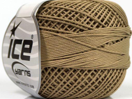 Lot of 6 Skeins Ice Yarns CRAFTY Hand Knitting Yarn Dark Camel