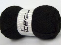Lot of 4 x 100gr Skeins Ice Yarns ALPACA SUPERBULKY (25% Alpaca Superfine 25% Organic Merino Wool) Yarn Black