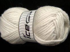 Lot of 4 x 100gr Skeins Ice Yarns ALPACA SUPERBULKY (25% Alpaca Superfine 25% Organic Merino Wool) Yarn Off White