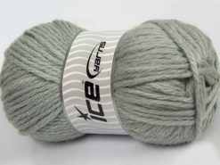Lot of 4 x 100gr Skeins Ice Yarns ALPACA SUPERBULKY (25% Alpaca Superfine 25% Organic Merino Wool) Yarn Light Grey
