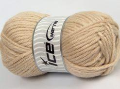 Lot of 4 x 100gr Skeins Ice Yarns ALPACA SUPERBULKY (25% Alpaca Superfine 25% Organic Merino Wool) Yarn Light Camel