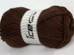 Lot of 4 x 100gr Skeins Ice Yarns ALPACA SUPERBULKY (25% Alpaca Superfine 25% Organic Merino Wool) Yarn Dark Brown