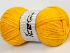 Lot of 4 x 100gr Skeins Ice Yarns ALPACA SUPERBULKY (25% Alpaca Superfine 25% Organic Merino Wool) Yarn Yellow
