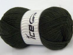 Lot of 4 x 100gr Skeins Ice Yarns ALPACA SUPERBULKY (25% Alpaca Superfine 25% Organic Merino Wool) Yarn Khaki