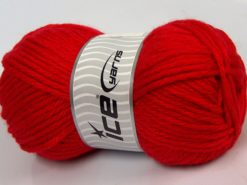Lot of 4 x 100gr Skeins Ice Yarns ALPACA SUPERBULKY (25% Alpaca Superfine 25% Organic Merino Wool) Yarn Red