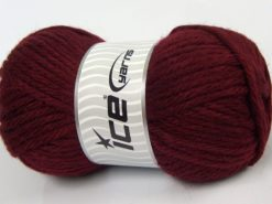 Lot of 4 x 100gr Skeins Ice Yarns ALPACA SUPERBULKY (25% Alpaca Superfine 25% Organic Merino Wool) Yarn Dark Burgundy