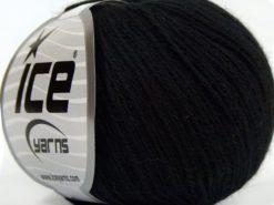 Lot of 8 Skeins Ice Yarns MILANO FINE (10% Baby Alpaca 15% Kid Mohair) Yarn Black