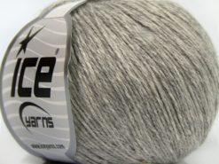 Lot of 8 Skeins Ice Yarns MILANO FINE (10% Baby Alpaca 15% Kid Mohair) Yarn Light Grey