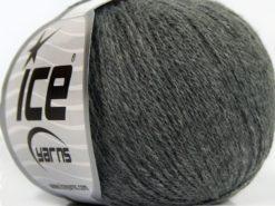 Lot of 8 Skeins Ice Yarns MILANO FINE (10% Baby Alpaca 15% Kid Mohair) Yarn Grey