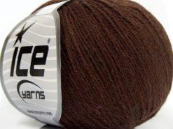 Lot of 8 Skeins Ice Yarns MILANO FINE (10% Baby Alpaca 15% Kid Mohair) Yarn Brown