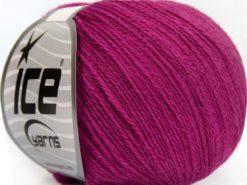Lot of 8 Skeins Ice Yarns MILANO FINE (10% Baby Alpaca 15% Kid Mohair) Yarn Dark Fuchsia