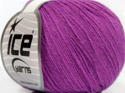 Lot of 8 Skeins Ice Yarns MILANO FINE (10% Baby Alpaca 15% Kid Mohair) Yarn Lavender
