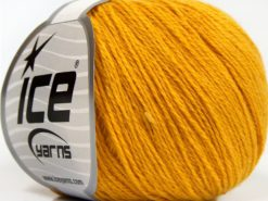 Lot of 8 Skeins Ice Yarns MILANO FINE (10% Baby Alpaca 15% Kid Mohair) Yarn Gold