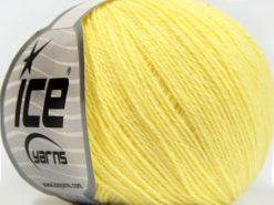 Lot of 8 Skeins Ice Yarns MILANO FINE (10% Baby Alpaca 15% Kid Mohair) Yarn Light Yellow