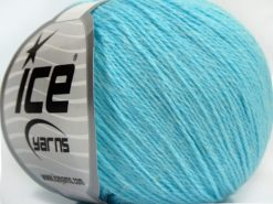 Lot of 8 Skeins Ice Yarns MILANO FINE (10% Baby Alpaca 15% Kid Mohair) Yarn Light Turquoise