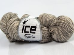 Lot of 3 x 100gr Skeins Ice Yarns HAND DYED CASHMERE (10% Cashmere) Yarn Beige Shades