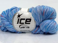 Lot of 3 x 100gr Skeins Ice Yarns HAND DYED CASHMERE (10% Cashmere) Yarn Blue Lilac Shades Salmon