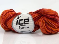 Lot of 3 x 100gr Skeins Ice Yarns HAND DYED CASHMERE (10% Cashmere) Yarn Orange Shades Red