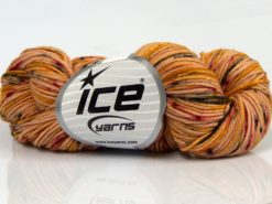 Lot of 3 x 100gr Skeins Ice Yarns HAND DYED CASHMERE (10% Cashmere) Yarn Gold Shades Black Burgundy