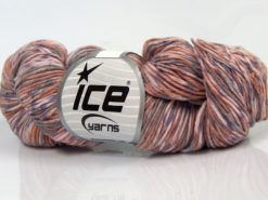 Lot of 3 x 100gr Skeins Ice Yarns HAND DYED CASHMERE (10% Cashmere) Yarn Light Pink Light Salmon Lilac Light Grey