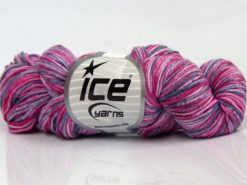 Lot of 3 x 100gr Skeins Ice Yarns HAND DYED CASHMERE (10% Cashmere) Yarn Pink Shades Grey Shades