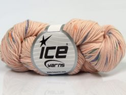 Lot of 3 x 100gr Skeins Ice Yarns HAND DYED CASHMERE (10% Cashmere) Yarn Powder Pink Green Orange Purple