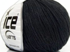 Lot of 8 Skeins Ice Yarns MILANO DK (10% Baby Alpaca 15% Kid Mohair) Yarn Anthracite Black
