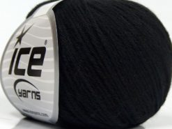 Lot of 8 Skeins Ice Yarns MILANO DK (10% Baby Alpaca 15% Kid Mohair) Yarn Black