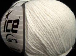Lot of 8 Skeins Ice Yarns MILANO DK (10% Baby Alpaca 15% Kid Mohair) Yarn White