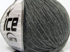 Lot of 8 Skeins Ice Yarns MILANO DK (10% Baby Alpaca 15% Kid Mohair) Yarn Grey
