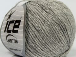 Lot of 8 Skeins Ice Yarns MILANO DK (10% Baby Alpaca 15% Kid Mohair) Yarn Light Grey
