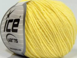 Lot of 8 Skeins Ice Yarns MILANO DK (10% Baby Alpaca 15% Kid Mohair) Yarn Yellow