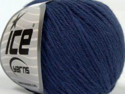 Lot of 8 Skeins Ice Yarns MILANO DK (10% Baby Alpaca 15% Kid Mohair) Yarn Blue