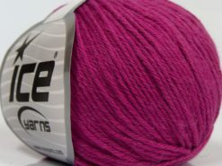 Lot of 8 Skeins Ice Yarns MILANO DK (10% Baby Alpaca 15% Kid Mohair) Yarn Dark Fuchsia