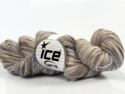 Lot of 3 x 100gr Skeins Ice Yarns HAND DYED SILK (15% Silk 85% Superwash Merino Wool) Yarn Camel Beige Light Lilac