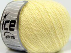Lot of 6 Skeins Ice Yarns ANGORA CASHMERE (20% Cashmere 40% Angora) Yarn Light Yellow