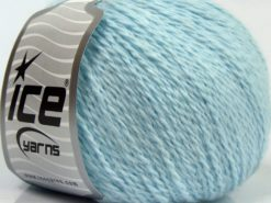 Lot of 6 Skeins Ice Yarns ANGORA CASHMERE (20% Cashmere 40% Angora) Yarn Light Blue