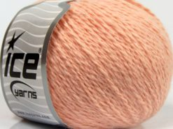 Lot of 6 Skeins Ice Yarns ANGORA CASHMERE (20% Cashmere 40% Angora) Yarn Light Salmon
