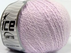 Lot of 6 Skeins Ice Yarns ANGORA CASHMERE (20% Cashmere 40% Angora) Yarn Light Lilac