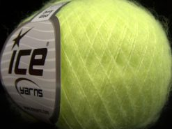 Lot of 10 Skeins Ice Yarns DUSTY WOOL (32% Wool 1% Elastan) Yarn Neon Green