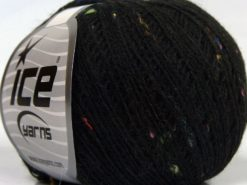 Lot of 10 Skeins Ice Yarns SALE PLAIN (12% Viscose) Hand Knitting Yarn Black