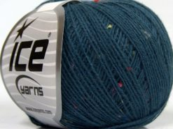 Lot of 10 Skeins Ice Yarns SALE PLAIN (12% Viscose) Yarn Jeans Blue