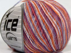 Lot of 10 Skeins Ice Yarns SALE SELF-STRIPING Yarn Lilac White Orange Pink Shades