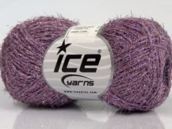 Lot of 8 Skeins Ice Yarns SALE METALLIC (58% Cotton) Hand Knitting Yarn Lilac